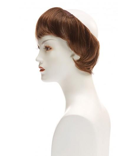 Γυναικείο συνθετικό ποστίς με αφαιρούμενη φράντζα, μήκος μαλλιών Belle Madame 15cm, Cap Hair Short