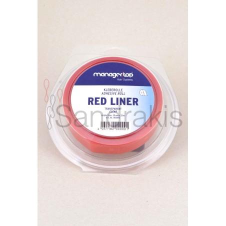 Red liner διάφανη ταινία διπλής όψης ρολό 33m